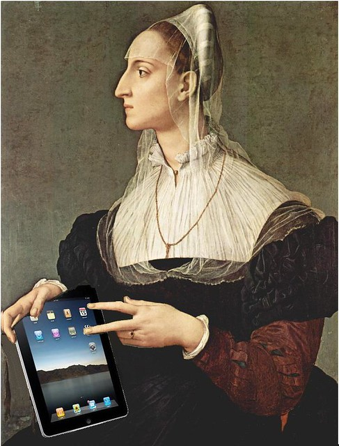Portrait of Laura Battiferri With Her iPad, after Agnolo Bronzino