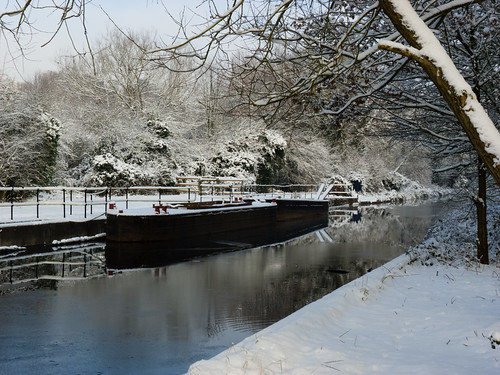 Staffs and Worcs canal icing over