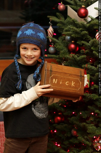 nick with a personalized treasure box from olivia & flynn