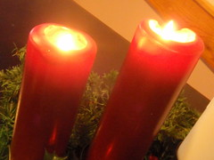 orange, decor, flameless candle, candle, yellow, red, lighting,