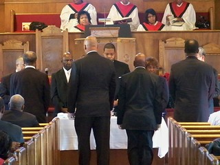 Communion at Mizpah Church 2010