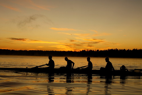 sunrise washington rowing americanlake