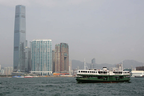 Star Ferry 'Morning Star' with the Kowloon side in the background