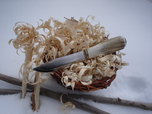 Feather sticks and shavings