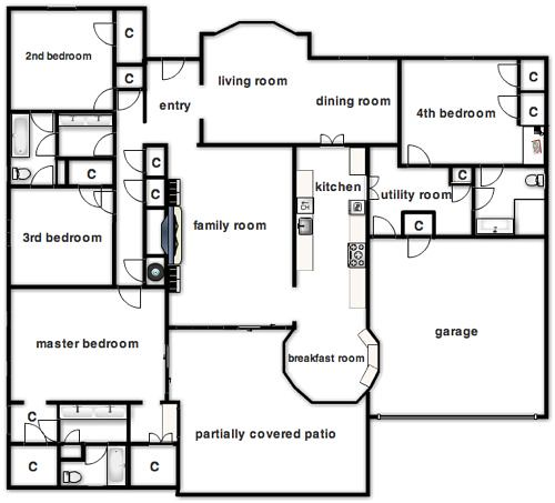 The Flip's Floor Plan