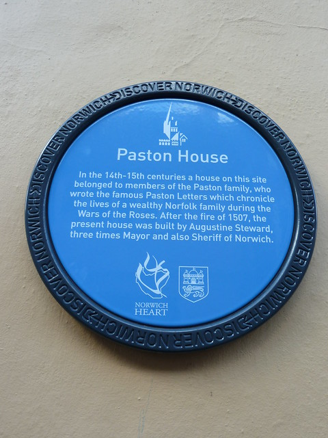 Photo of Augustine Steward, John Paston, and Margaret Mautby blue plaque