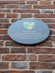 Photo of Norwich City Football Club black plaque
