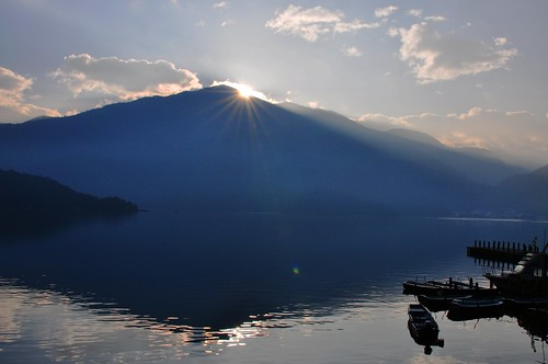 Sunrise in Sun Moon Lake