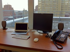 Once again, I move to a new desk w/in the @NYSenateCIO's NYC office.