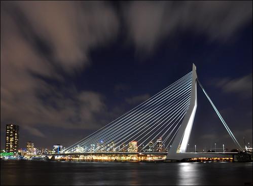 bridge netherlands rotterdam explore frontpage erasmusbrug theswan nieuwemaas unstudio benvanberkel wilhelminapier dezwaan