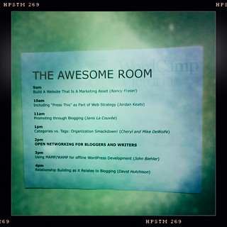 I'm going to be speaking in the 'Awesome' room #wcv11