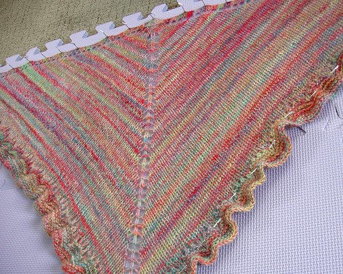 blocked shawl