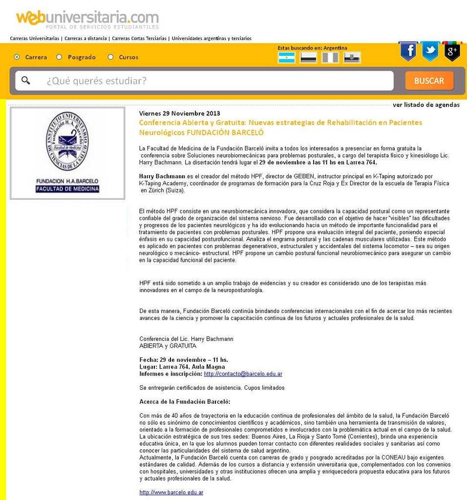 Site Web Universitaria (nota) 22-11-13