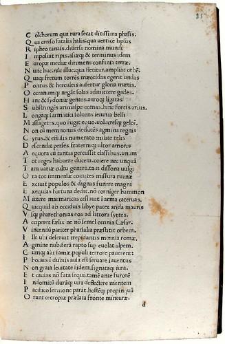 Variant reading of text in Lucanus, Marcus Annaeus: Pharsalia