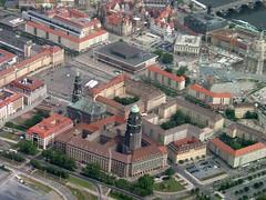 Dresden Luftbild Altmarkt Umgebung