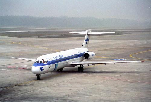 Finnair MD-87; OH-LMC@ZRH;26.01.1996
