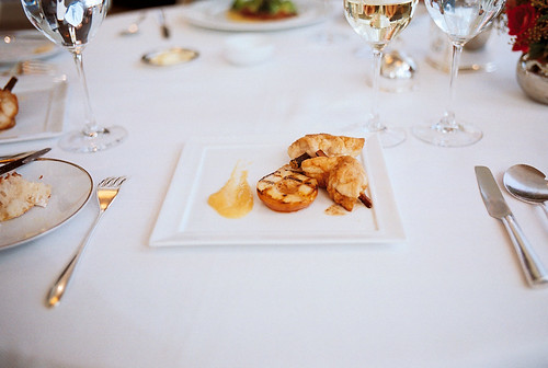 sweetbreads with grilled pear | jean georges