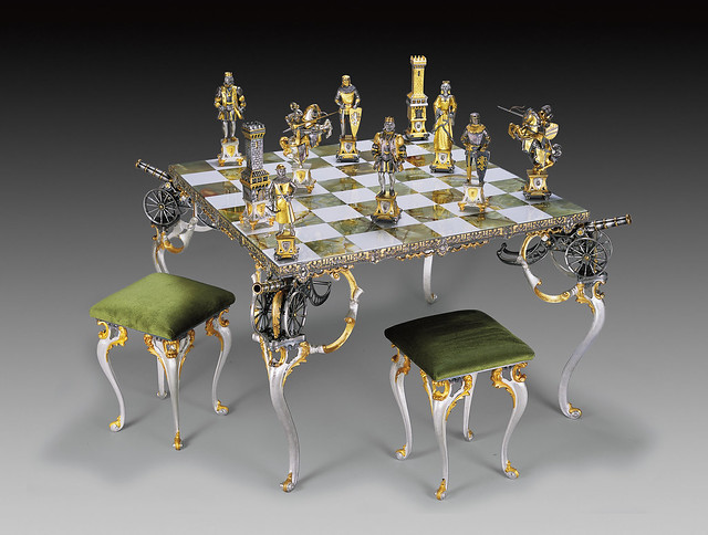 Probably the most expensive chess set ever flickr photo sharing - Coolest chess boards ...