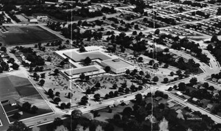 Westwood Village Shopping Center rendering, 1959
