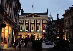 York - Mansion House and Christmas tree