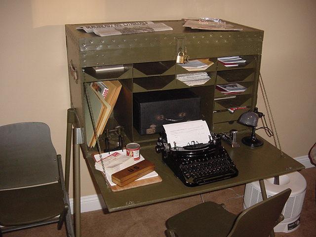 Wwii Field Desk Flickr Photo Sharing