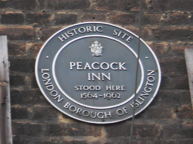 Photo of Peacock Inn, Islington black plaque