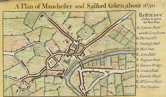Map 1: A Plan of Manchester and Salford, c.1650