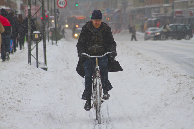 Snowstorm Casual - Winter Cycling in Copenhagen