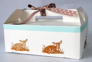 Hand Printed cupcake box