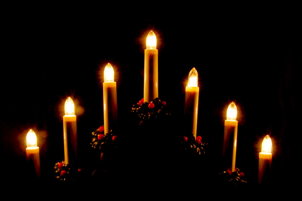 Advent candles lit
