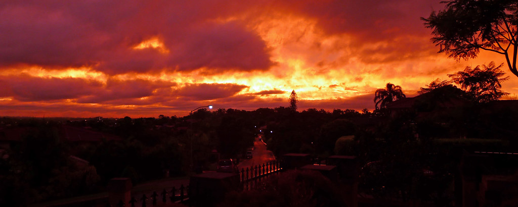 Brisbane Sunset after Thunderstorm
