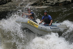 whitewater kayaking(0.0), boat(0.0), vehicle(1.0), sports(1.0), rapid(1.0), river(1.0), recreation(1.0), outdoor recreation(1.0), boating(1.0), extreme sport(1.0), water sport(1.0), raft(1.0), rafting(1.0),