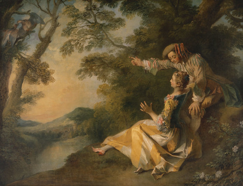 Nicolas Lancret - Lovers in a Landscape
