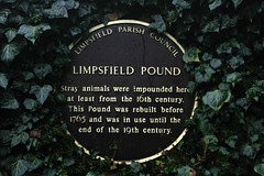 Photo of Pound, Limpsfield brown plaque