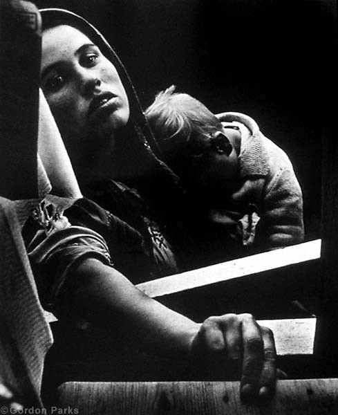 Beggar Woman and Child, Estoril, Portugal, 1950, by Gordon Parks