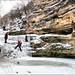 Путь к главному водопаду по льду и малым порогам