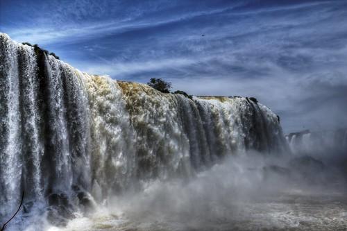 parque water colors água cataratas nacional hdr foz iguaçu queda frenteafrente