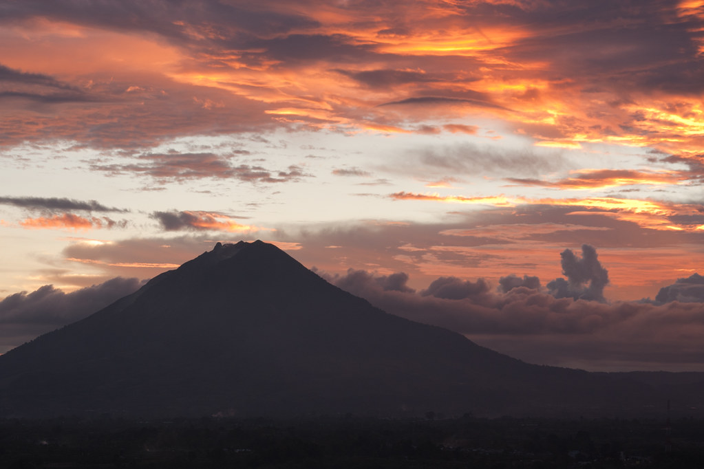 Volcan Sinabung, indonesia