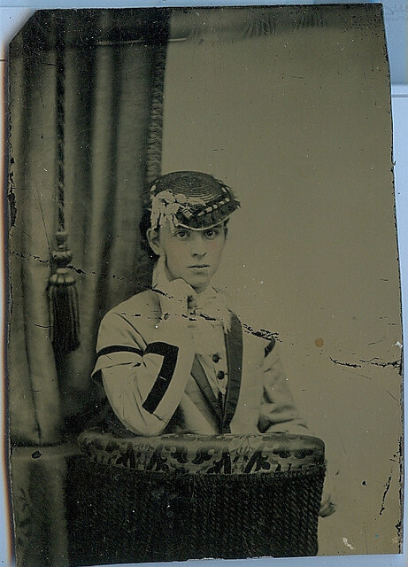 well posed tintype woman