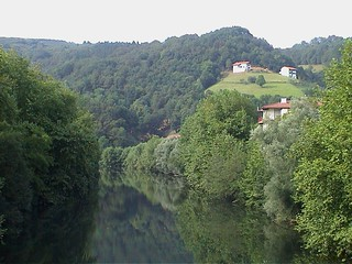 view down the river