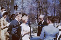 1962, Outside Spinning Wheel Inn Wedding Dinner