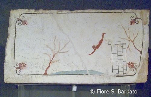 Paestum (SA), 2010, Museo Archeologico Nazionale: la tomba del tuffatore.