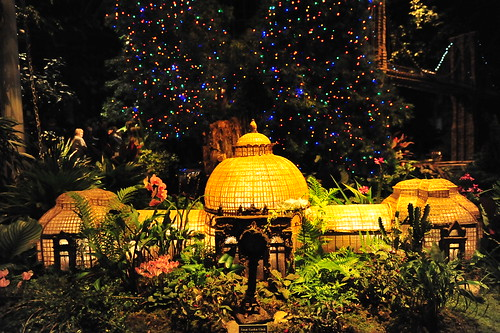 NYBG Train Show - Enid A. Haupt Conservatory at Night