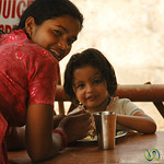 Mother and Daughter at Breakfast - Pokhara, Nepal