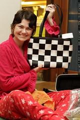 black and white checkered handbag   harvey's seat be…