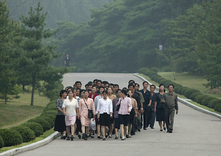 On the way to Mangyongdae Kim Il Sung native house - PyongyangNorth Korea