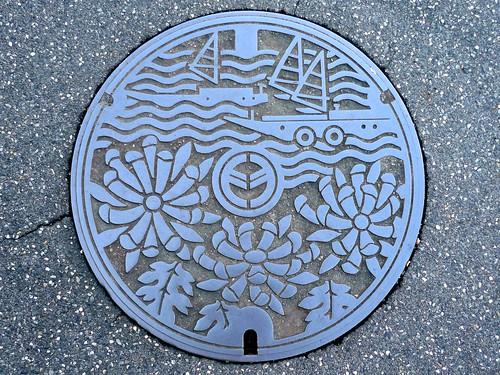 Hashima Gifu manhole cover(岐阜県羽島市のマンホール)