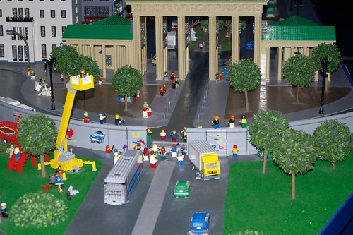 Legoland - the moment when the wall was broken down
