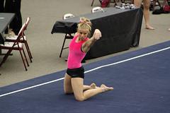 TWU Gymnastics Floor - Brittany Johnson