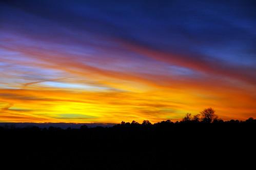 blue sunset orange cold colors yellow clouds nikon texas d70 elkhart tonight
